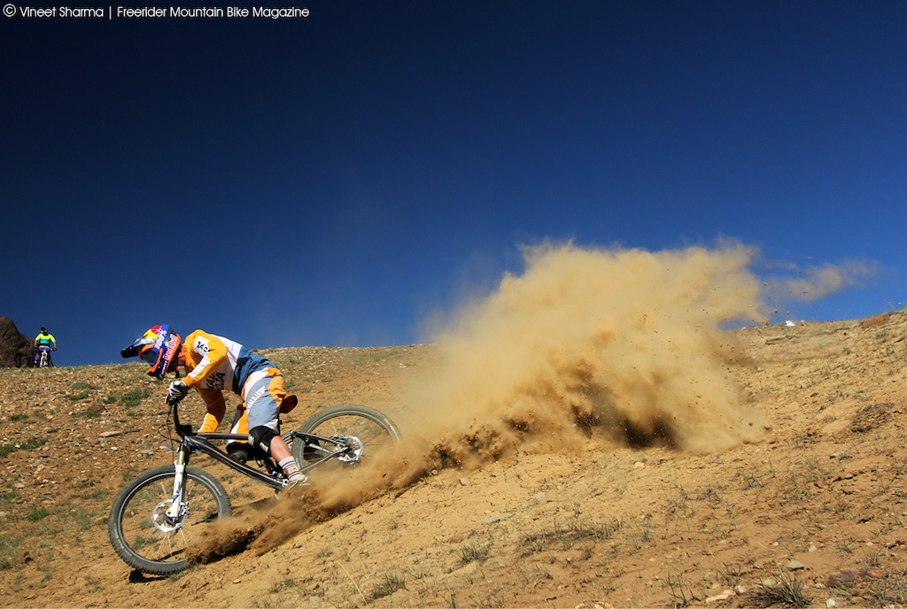 Eat my dust says Guido Tschugg.