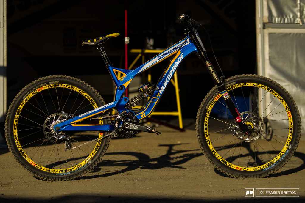 Sam Hill's Nukeproof Pulse  Photo by Fraser Britton