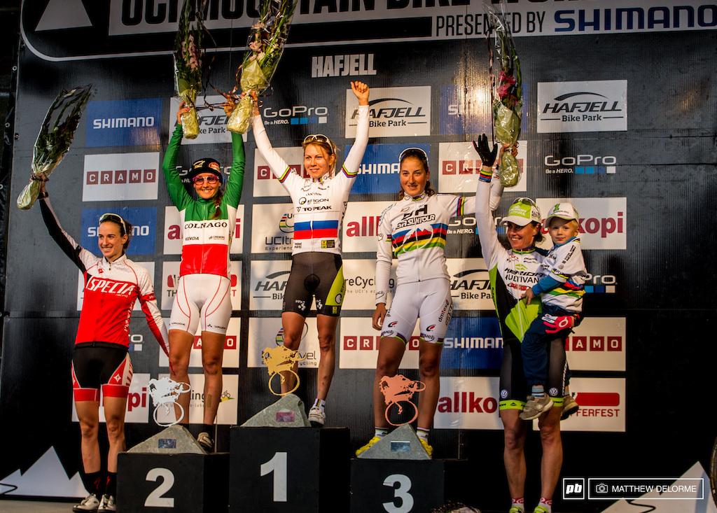 Irena Kalentieva took the win today for Topeak.