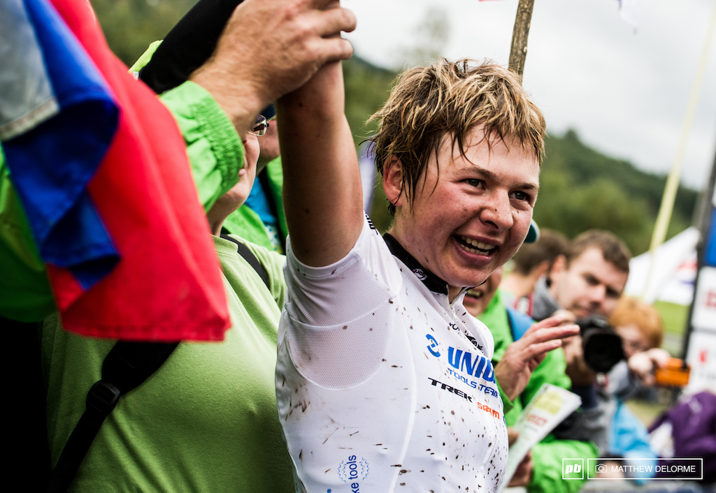 Embraced by a nation. Tania is Slovenia s first ever World Cup Champion.