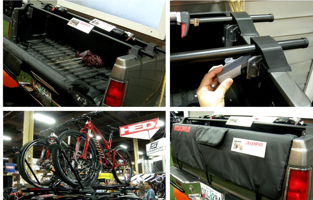 Yakima Bedrock truck-bed adapter towers