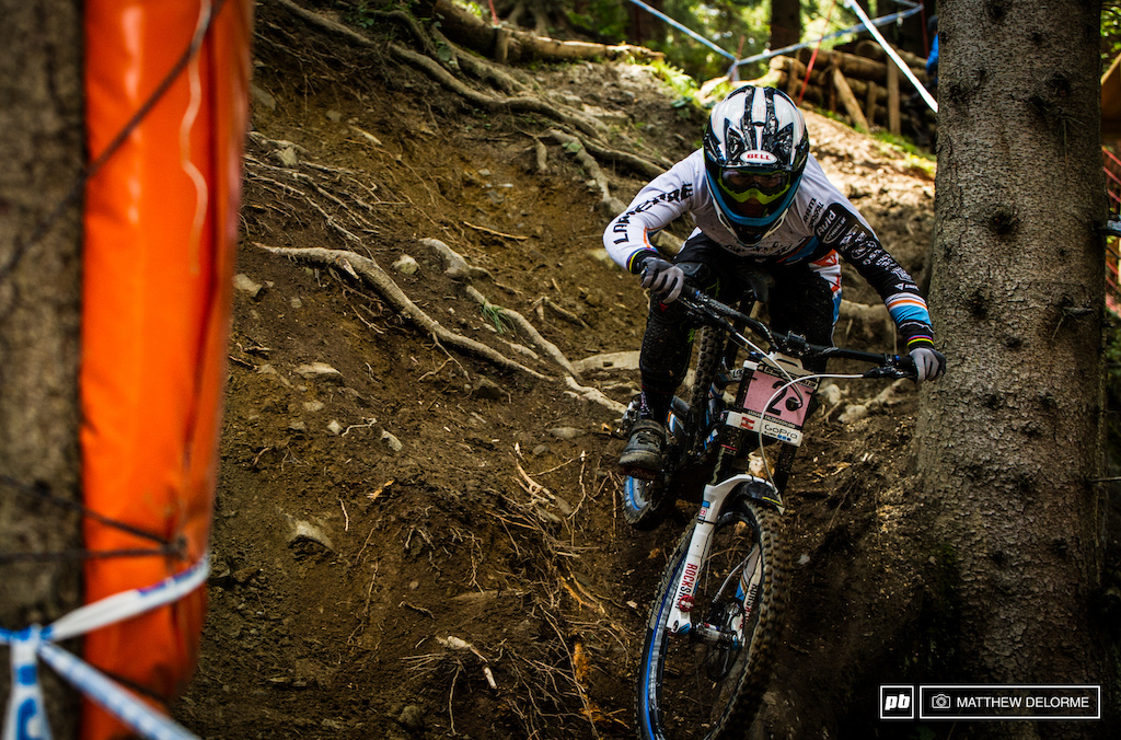 Emmeline Ragot gets her second win of the season in Leogang a little better than a half second up on Rachel.