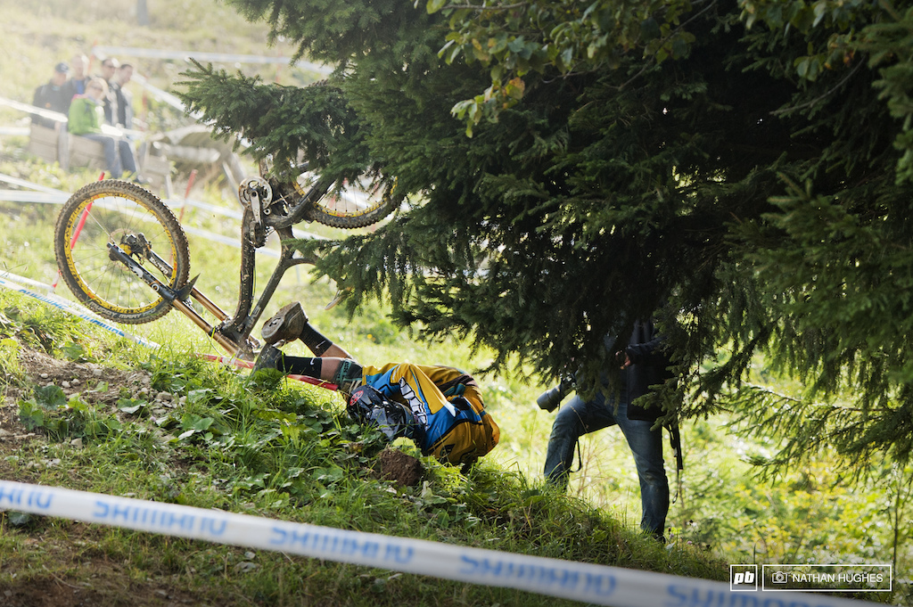 A photographer using his TK mutation to draw riders a little closer.