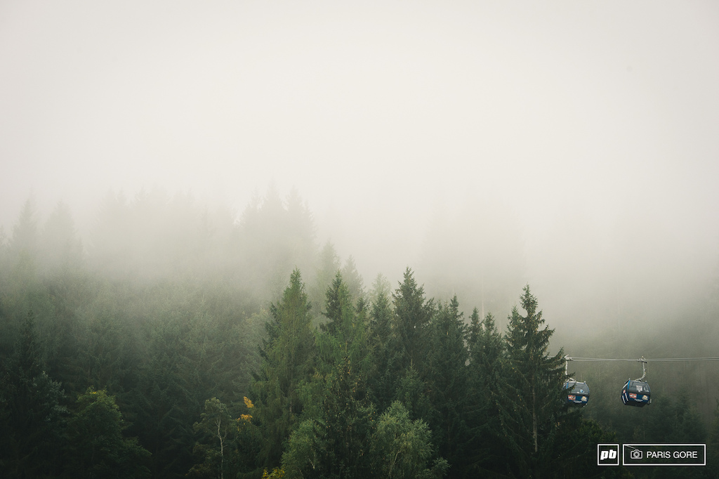 Misty Morning Mountain Top.