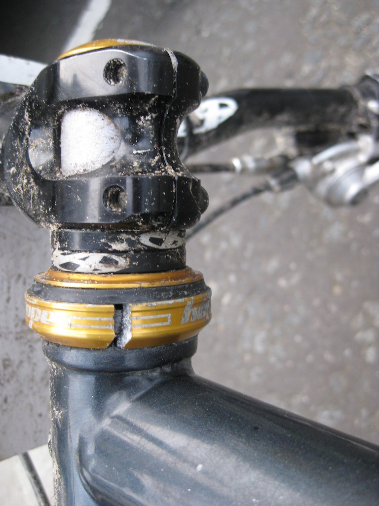 my bastard headset after i stacked on the first stage of the tour de nevis