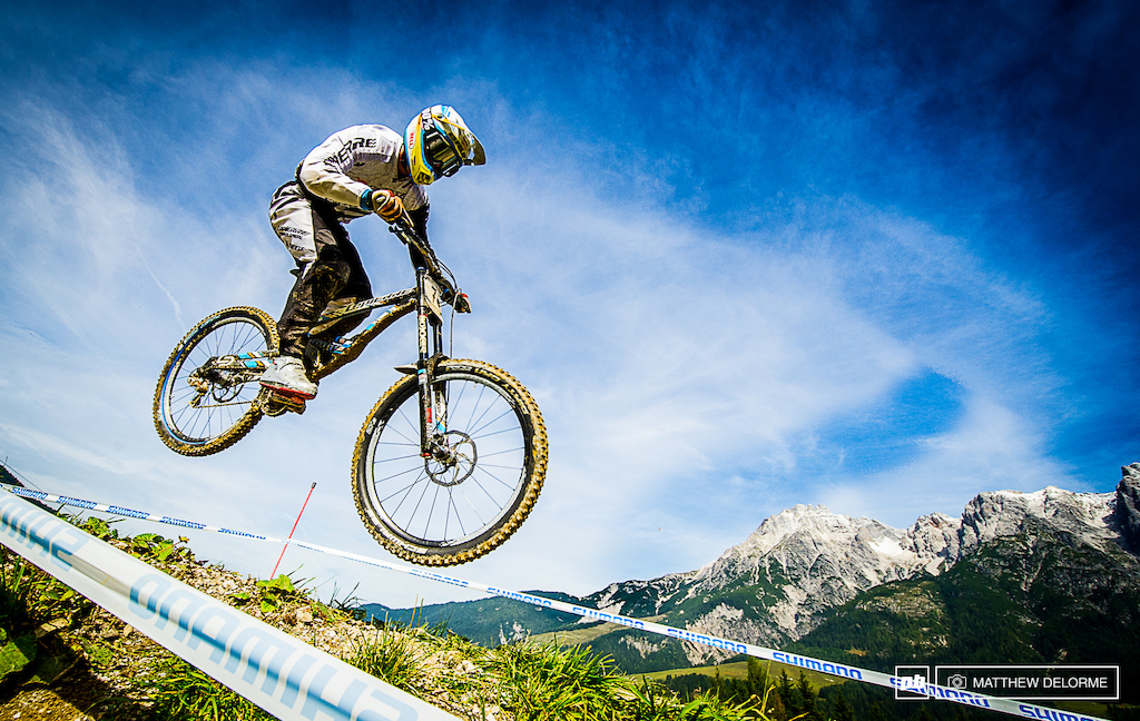 Loic Bruni Powering home to second place in Leogang. He will surely be one to watch in 2014.