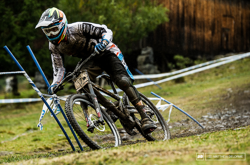 Blenky Making moves on a muddy Norway track to fourth place.