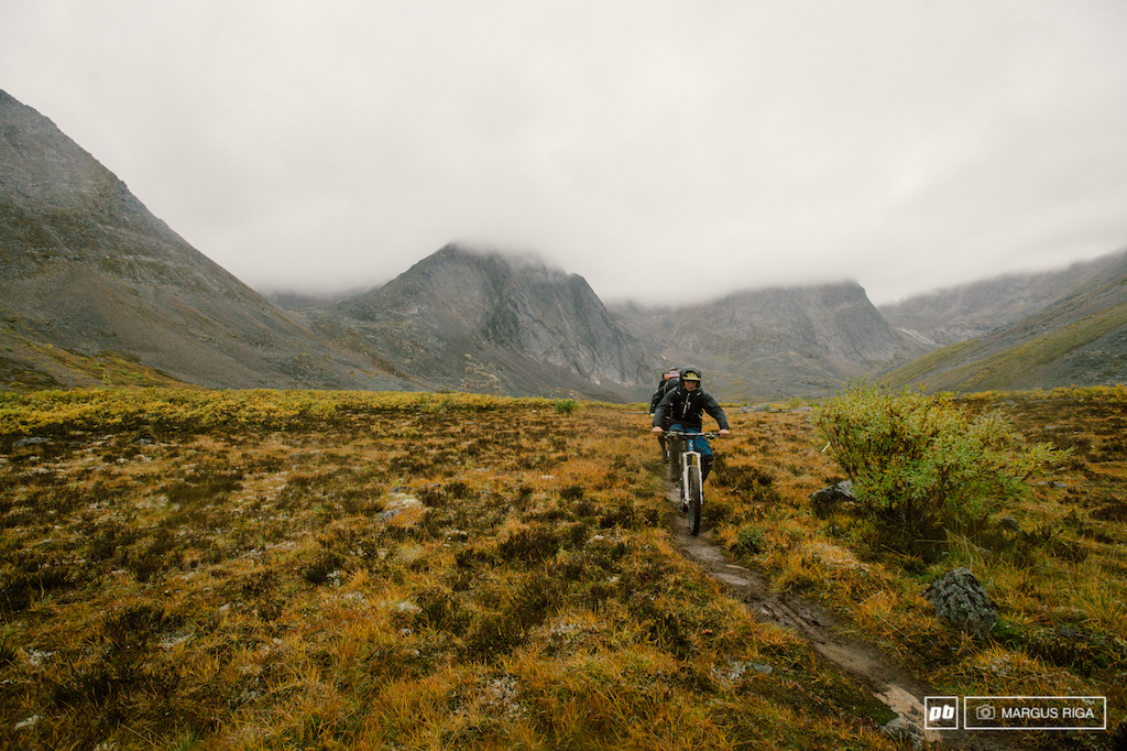 Riding singletrack amidst the most incredible fog shrouded spires..........we kept saying look where the f k we are It was a great feeling to be on bikes in such a remote place.