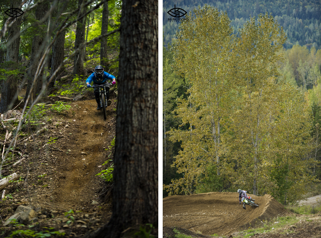 Whether it s in the forest or on the track Brett sure does like his dirt.