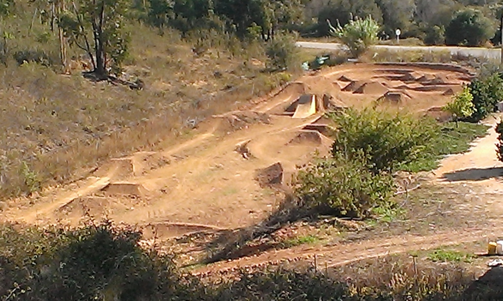 our little field of fun at the ride portugal house, DH track links into it also.