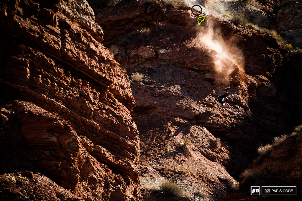 Utah local Dustin Schaad falling the farther than most people ever should. Somehow he limped away from the whole thing.