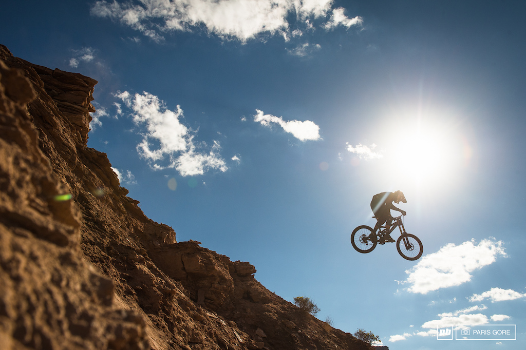 Thomas Vanderham launching into thin air. For the first time in Rampage history Thomas will not be competing due to a few broken ribs and other minor injuries from a crash he had at the end of the day.