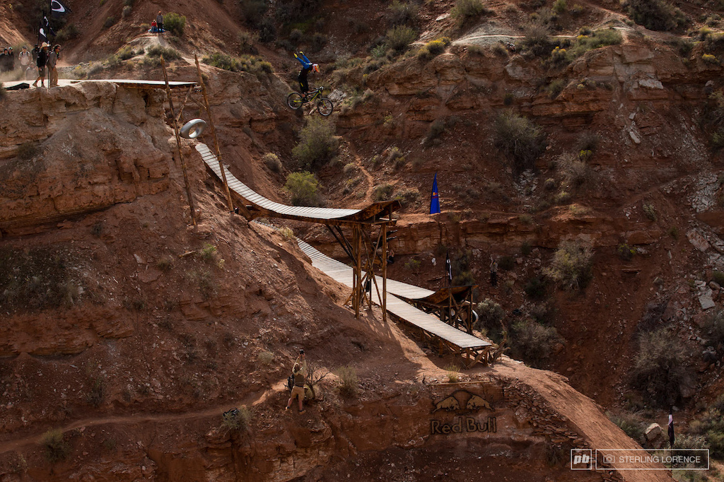 Champion of the 2013 RedBull Rampage in Virgin Utah