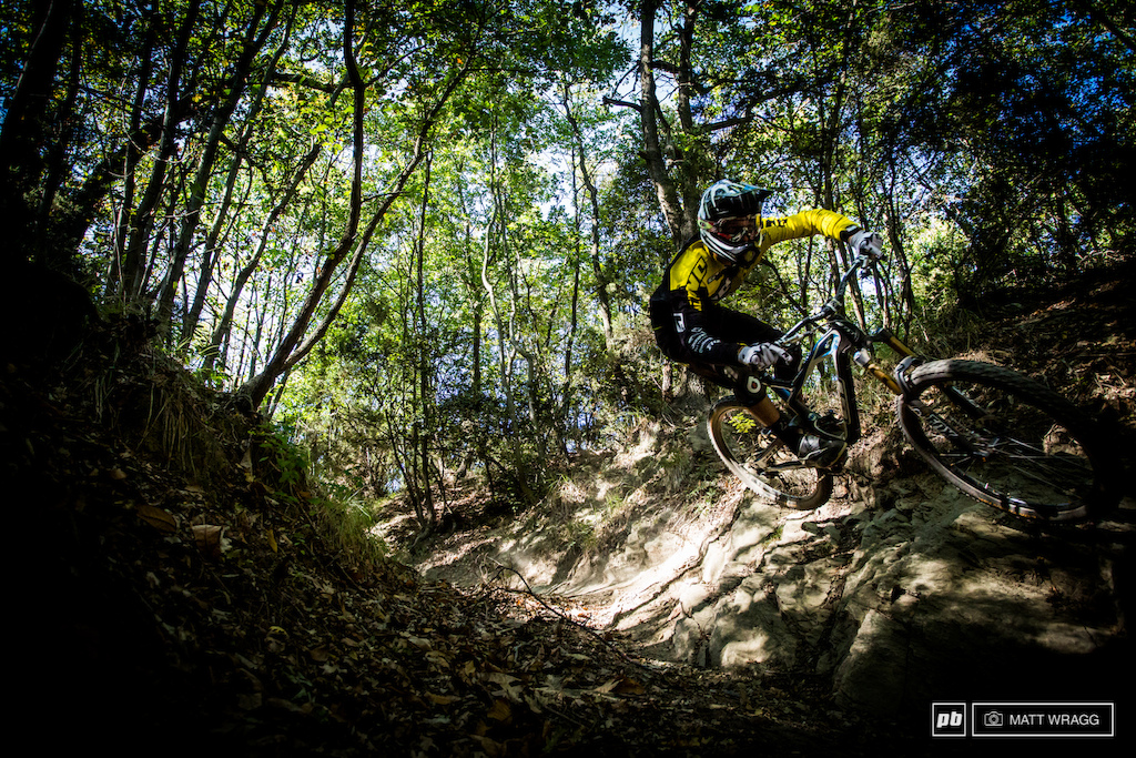 Martin Maes has already sewed up the junior EWS series title and watching him through the rocks it is easy to see why. The question now isn t whether he ll be the other juniors but how many of the adults he can beat. The smart money says most of them...