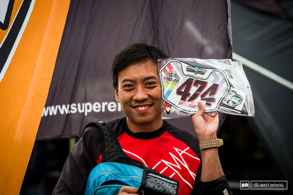 How international is this race? Kenneth Lam is here representing Hong Kong. He's also the nicest man in the world and showed s some of the coolest trails we've ever ridden when we visited Hong Kong late last year. It's great to see him over here in Europe, experiencing enduro racing.