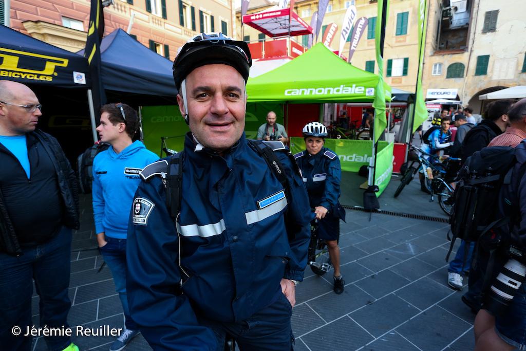 Police man on the paddock saturday monsning.