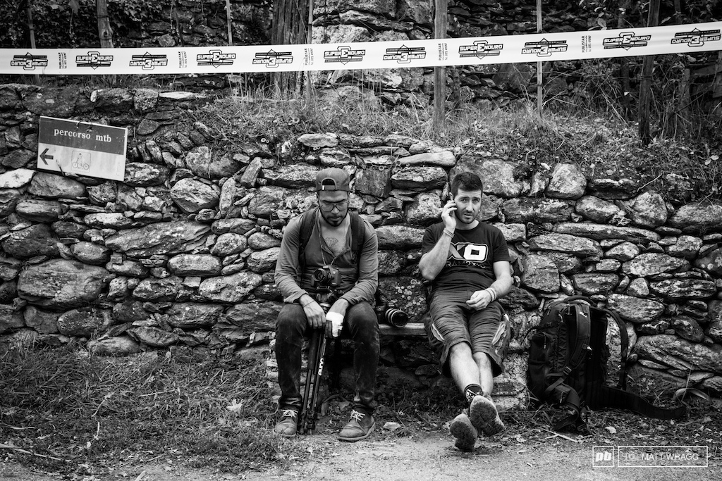 The man on the left is Matteo Cappe the official Superenduro series photographer and the man responsible for most of the great images you see on the Superenduro website.