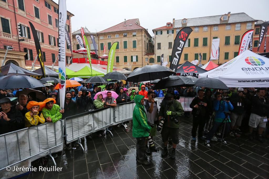 rain before the podium