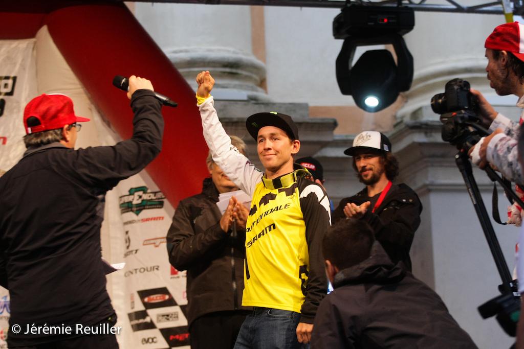 Jerome on the podium