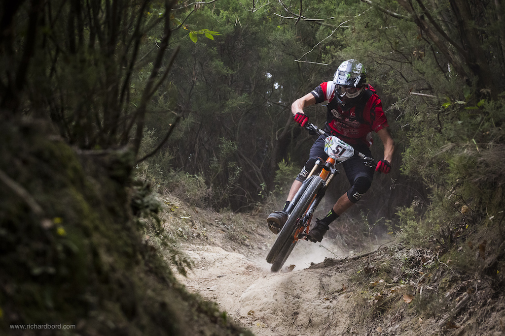 Well choose the one you prefer Josh Ratboy Bryceland managed to turn only with the rear wheel in this technical turn.