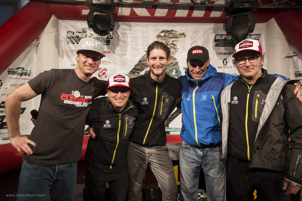 The men behind the Enduro World Series year 1 including Darren Kinnaird Enrico Guala Chris Ball Fred Glo and Franco Monchiero.