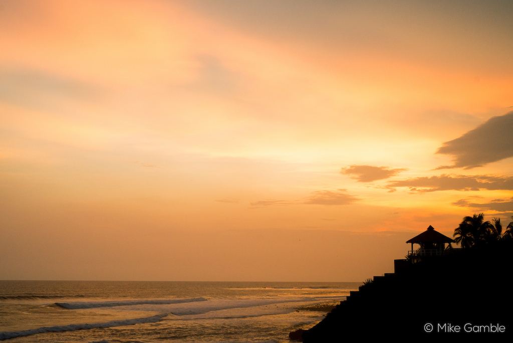 Sunset at Punta Elephante. The best accommodation amp hosts a group of bikers could ask for.