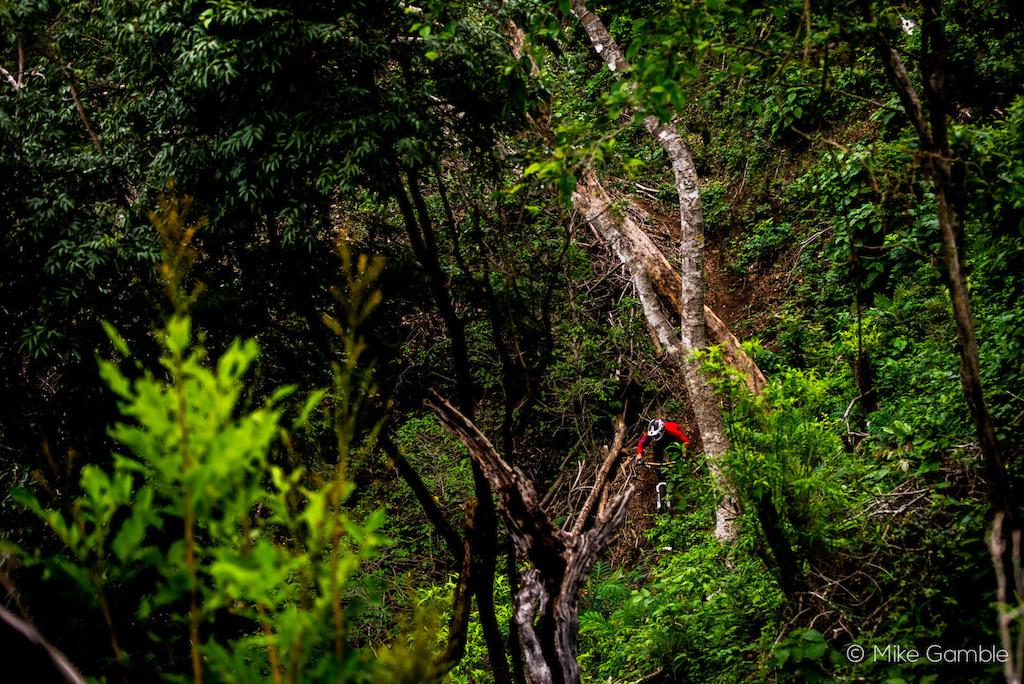 Riding a new jungle trail in El Salvador