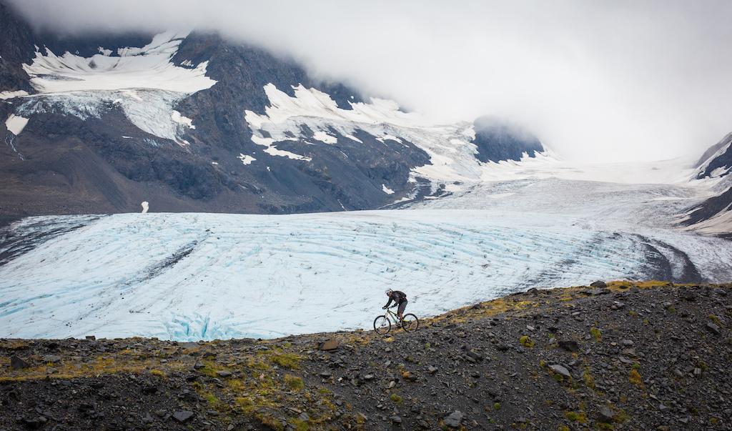 Pete near Raven Glacier