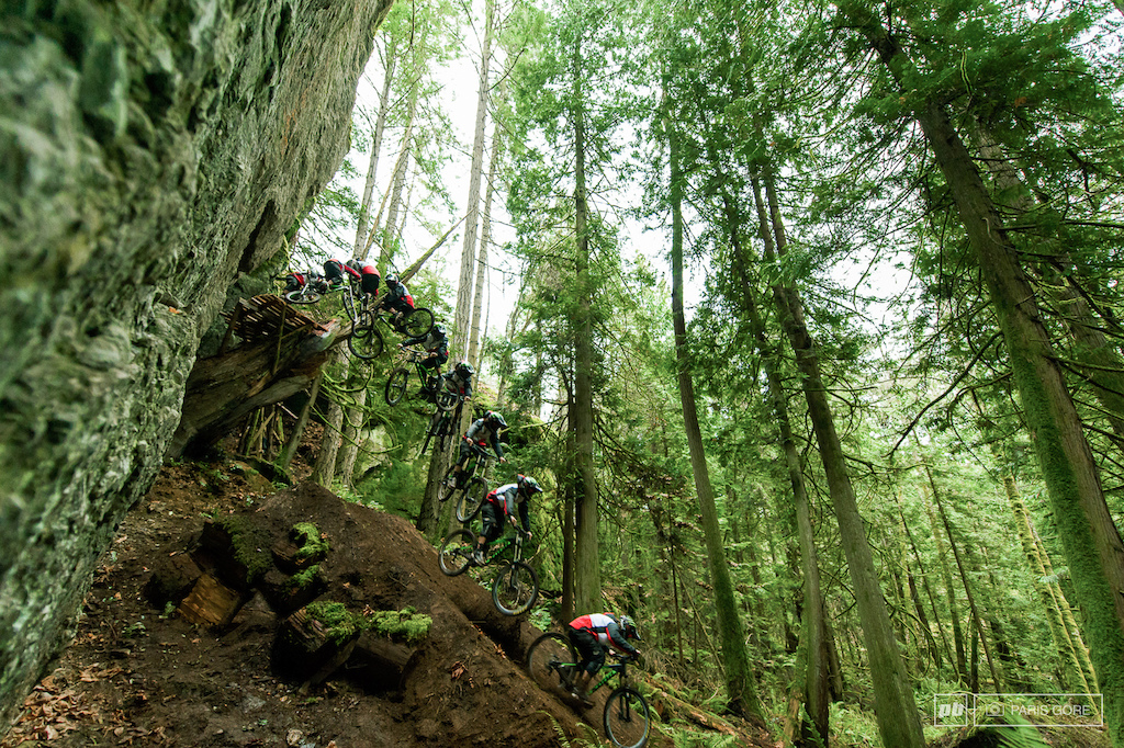 Aggy full spin on Vancouver Island during filming for Kona Sherpas Cinemas.