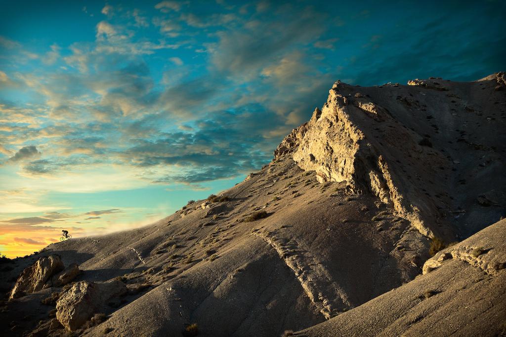 Kyle Strait tearing down a ridge. Kyle Strait / UT.    briankcampphotography.com