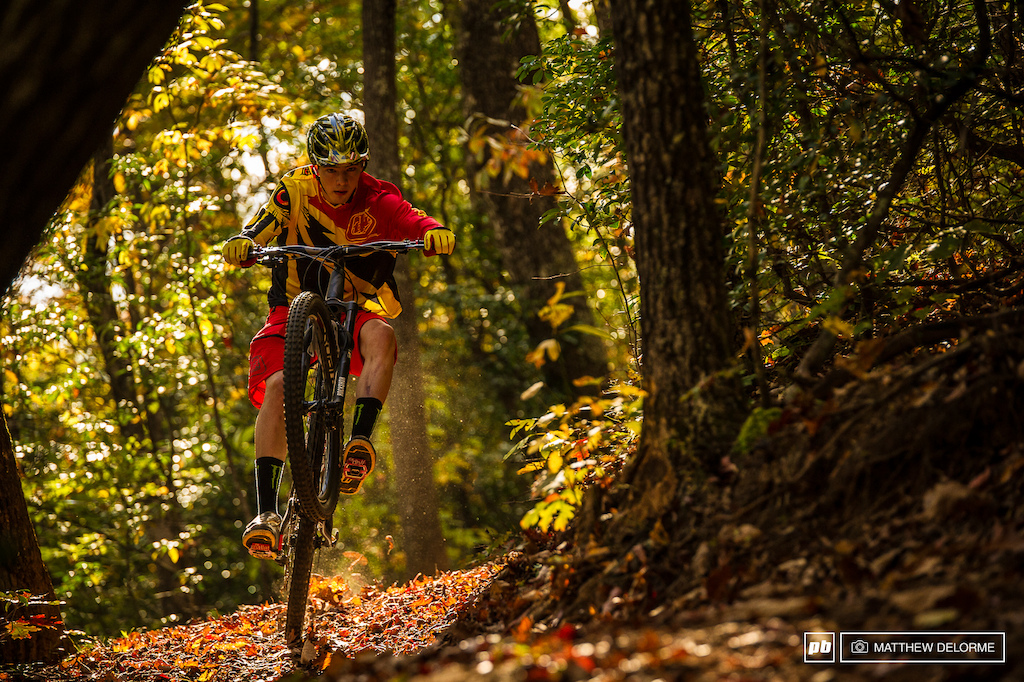 Walker just one month out of a cast from a broken wrist is back on the bike and slaying it on his home trails. While the injury may have put a damper on his World Cup season he takes positive lessons from it and will apply them to next season.