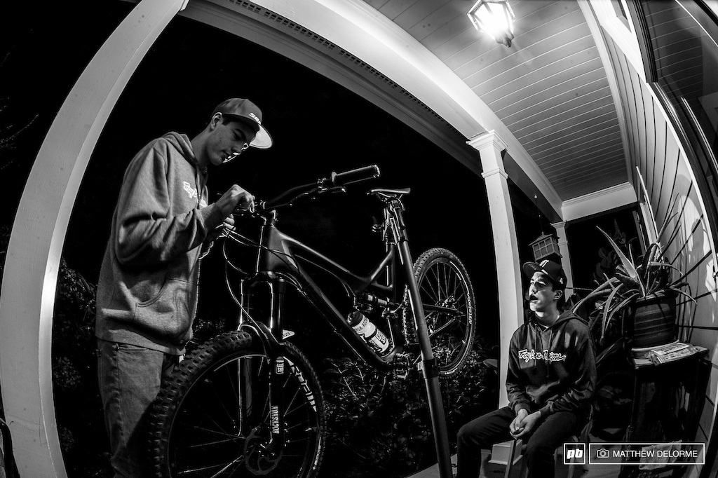 At the end of the day, the boys take time to work on their bikes, clean them up, and have them ready and waiting for tomorrow.