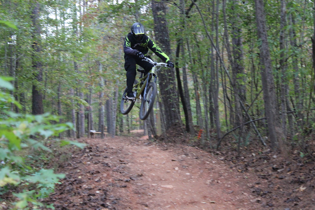 Having some fun on the flow track.