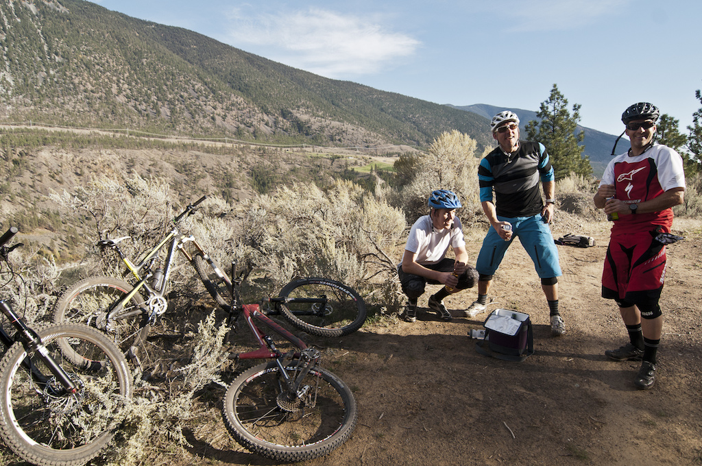 The final laughs at the bottom of the trip-closing trail. The sweat drips the bikes fall to the wayside and icy beers are pulled from the cooler. The adventure is complete. Riding with Dre for five days was upbeat and stirring beyond words. Wade Simmons perhaps does the best job of describing Sir Dre I would be hard pressed to say if I knew somebody more stoked to ride a bike than Dre. He defines live to ride ride to live . This benefits his friends the ones who are lucky enough to take advantage of that stoke and passion to explore race shred discover organize hammer socialize drink and debate anything mountain bike. People like him are the cohesion behind the sport bridging the gap between racer and recreational rider. All that remained for us was a race car rush to Horseshoe Bay. A fitting conclusion flashing backwards through time back down the Sea to Sky Corridor from whence we came. High fives all around.