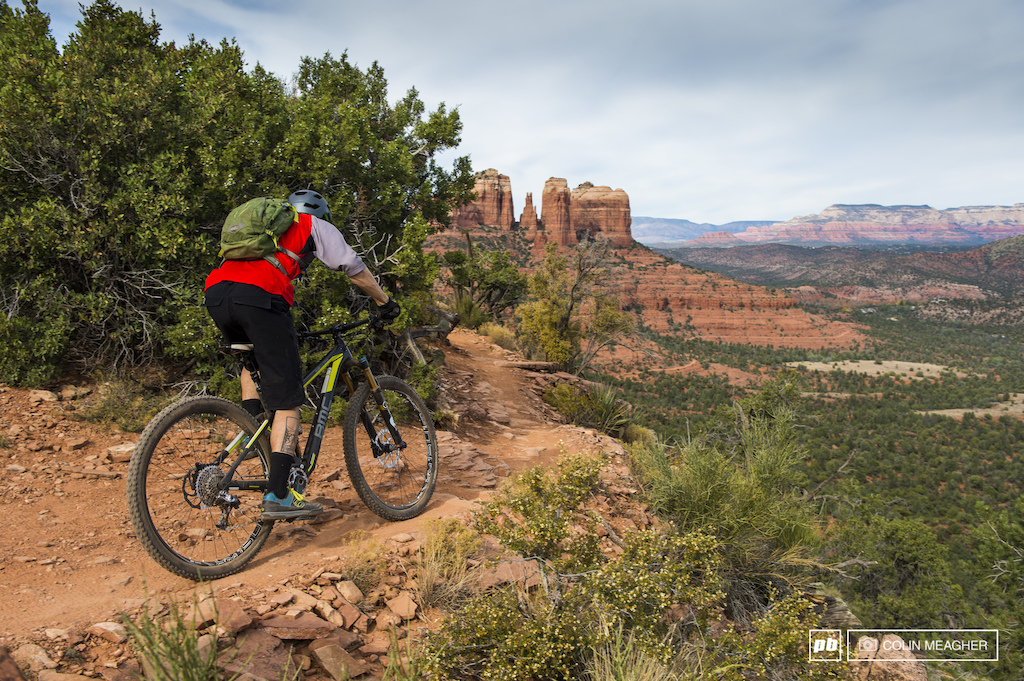 Mike Kazimer testing the BMC Trailfox in Sedona AZ