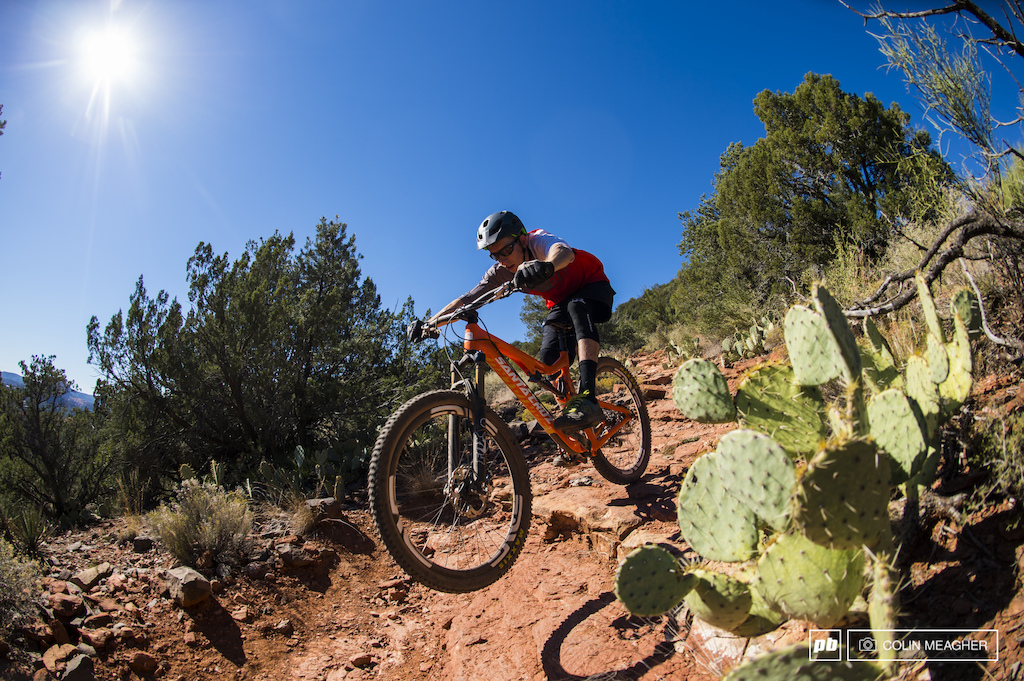 Mike Kazimer testing the Santa Cruz 5010 in Sedona AZ