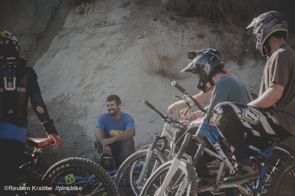 Brad and five young men whose lives on bicycles have been shaped by his hands his riding and consistent grin.
