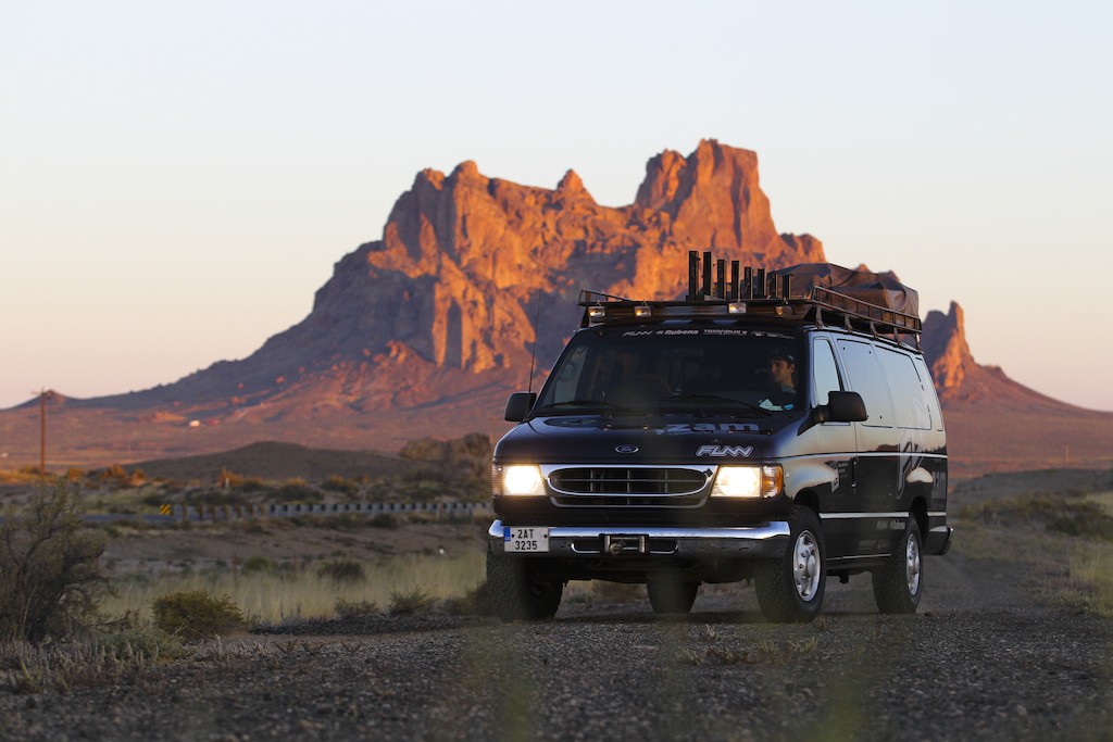 After all night right the dawning reached us in New Mexico od the road No. 491 from Gallup to Shiprock.