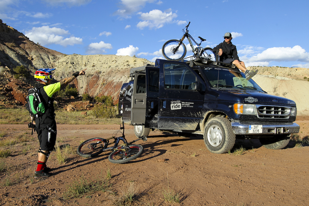 We transported both Gaspi s bikes on the roof rack which enabled us to have more space in the van.