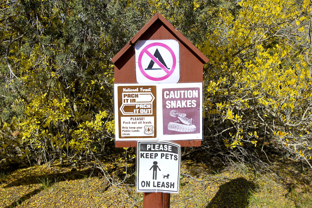 We better watched our steps. Sign was not joking. At least for one time we spotted the real rattle snake