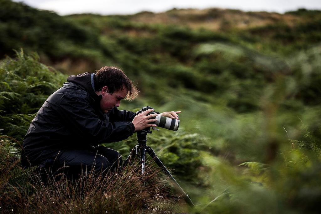 Nico Turner filming nature