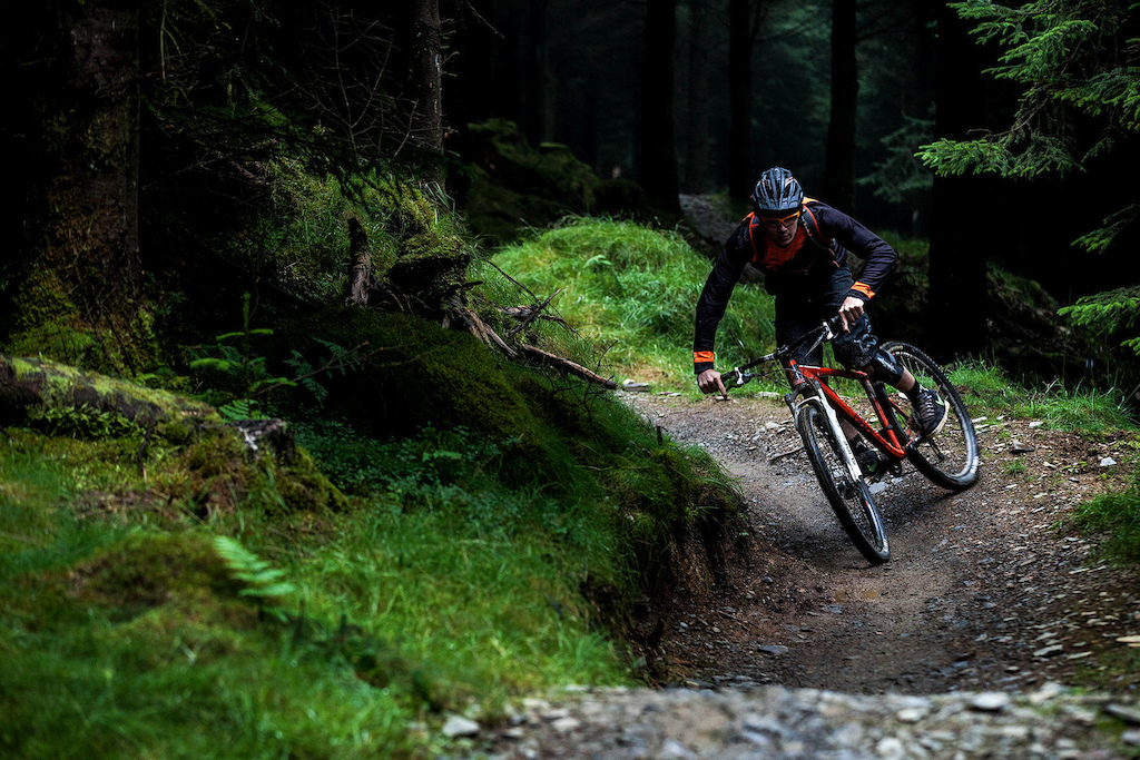 The hardpack trails meant some serious speed could be taken into the corners.