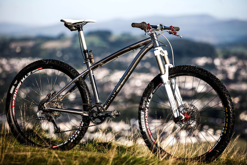 The titanium Kinesis Sync is a perfect match for this type of riding.