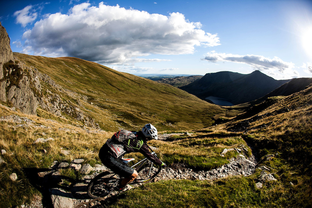 A great example of some of the steep twisty and technical trails that were in abundance.