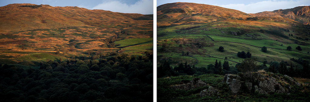 The constant shifting colours of the landscape was inspirational.