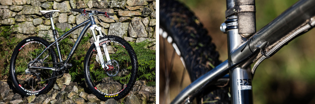 The Kinesis Sync has a great deal of attention to detail such as internal cable routing tapered head tube dropper guides PF30 BB 142 x 12 DT thru axle and clover leaf section top tube. The small is based around a 27.5 wheel size and the medium and large a 29 .