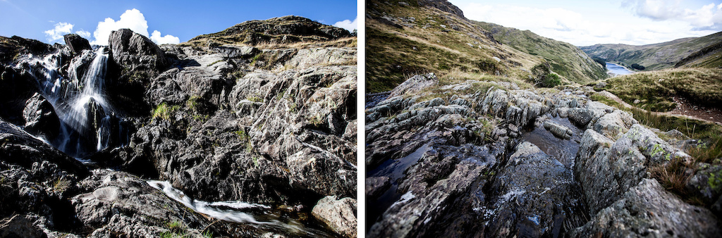 Racing down hills alongside waterfalls and rock pools is just one of the many rewards of an all day adventure.