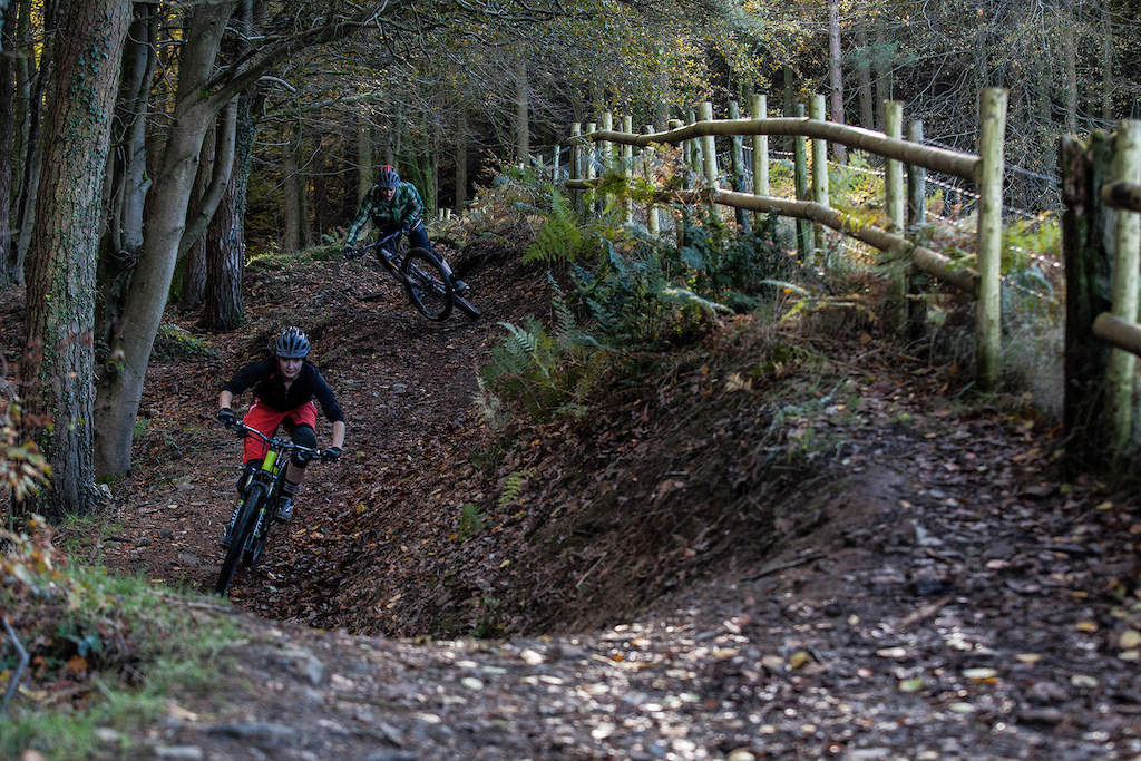 Local and guest rider and Saracen team mate Manon Carpenter was giving me a tour of most of the trails that Afan had to offer.