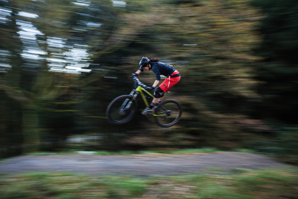 The jumps at Afan are so much fun could have sessioned them forever if winter wasn t calling and getting dark.