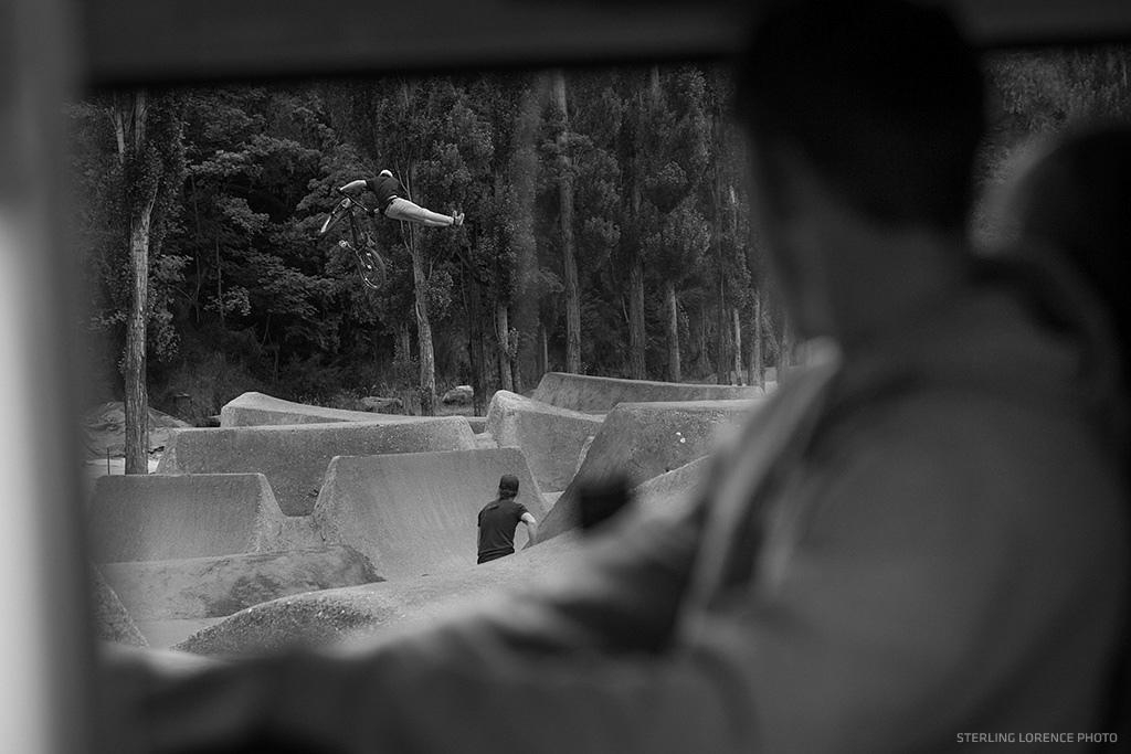 Rheeder at the Gorge Road Dirt Jumps near Queenstown New Zealand.